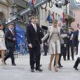 Le prince Louis et la princesse Tessy de Luxembourg lors du mariage civil du prince Guillaume de Luxembourg et de la comtesse Stephanie de Lannoy le 19 octobre 2012. Louis et Tessy ont annoncé en janvier 2017 leur divorce, prononcé moins d'un mois après à Londres.