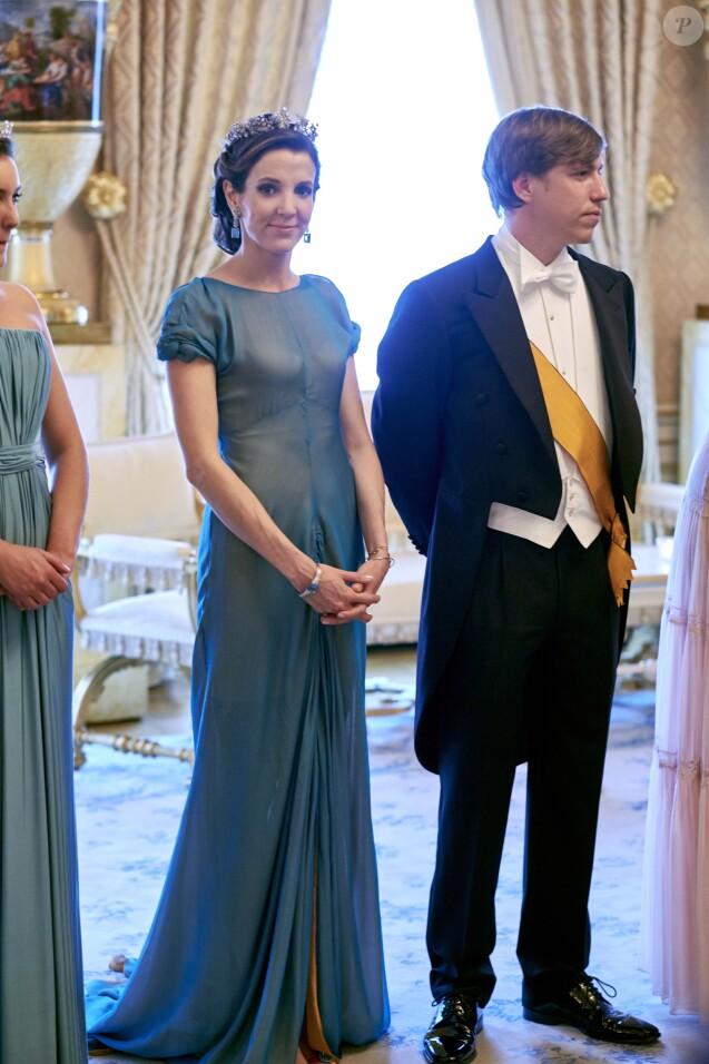 La princesse Tessy et le prince Louis de Luxembourg lors de la réception de la Fête nationale. Louis et Tessy ont annoncé en janvier 2017 leur divorce, prononcé moins d'un mois après à Londres. © Polet/Reporters/ABACAPRESS.COM