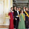 La famille grand-ducale de Luxembourg posant pour les photos officielles de la Fête nationale en juin 2015. Louis et Tessy ont annoncé en janvier 2017 leur divorce, prononcé moins d'un mois après à Londres. © Christian Aschman/DDP Images/ABACAPRESS.COM