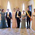 La famille grand-ducale de Luxembourg le 23 juin 2016 lors de la Fête nationale.