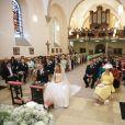 La princesse Tessy (née Antony) et le prince Louis de Luxembourg lors de leur mariage en l'église de Gildorf le 29 septembre 2016. Louis et Tessy ont annoncé en janvier 2017 leur divorce, prononcé moins d'un mois après à Londres.