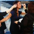 Tatiana Silva, ex-Miss Belgique (2005) et ex-compagne du chanteur Stromae, ici en train de se préparer pour présenter la météo sur M6 en 2016, a été recrutée par TF1 comme Miss Météo ! Photo Instagram Tatiana Silva.
