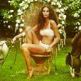 Tatiana Silva, nouvelle Miss météo de TF1, est également ambassadrice de la marque de lingerie Vela. Capture d'écran du site officiel de la marque.
