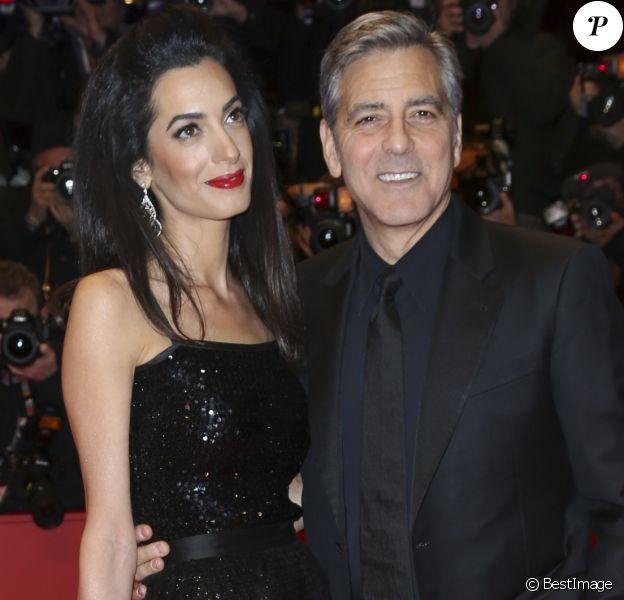 """George Clooney et sa femme Amal Clooney - Tapis rouge du film """"Hail Caesar!"""" lors du 66ème Festival International du Film de Berlin, la Berlinale le 11 février 2016"""