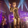 Bill Kaulitz - Tokio Hotel en concert à Hambourg en Allemagne le 24 mars 2015.