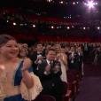 Ambiance pendant la cérémonie des Oscars 2017.