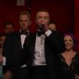 Justin Timberlake pendant la cérémonie des Oscars 2017.