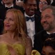 Leslie Mann et Judd Apatow pendant la cérémonie des Oscars 2017.
