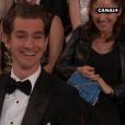 Andrew Garfield pendant la cérémonie des Oscars 2017.
