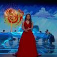 Auli'i Cravalho chante How Far I'll Go pendant la cérémonie des Oscars 2017.