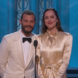 Dakota Johnson et Jamie Dornan aux Oscars 2017.