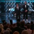 Michael J. Fox et Seth Rogen aux Oscars 2017.