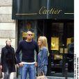 David Trezeguet et sa femme Beatriz (Beatrice) à Paris en 2002.