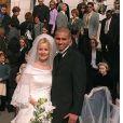 David Trezeguet et Beatriz (Beatrice) Villalba lors de leur mariage en 2000 à Monaco.