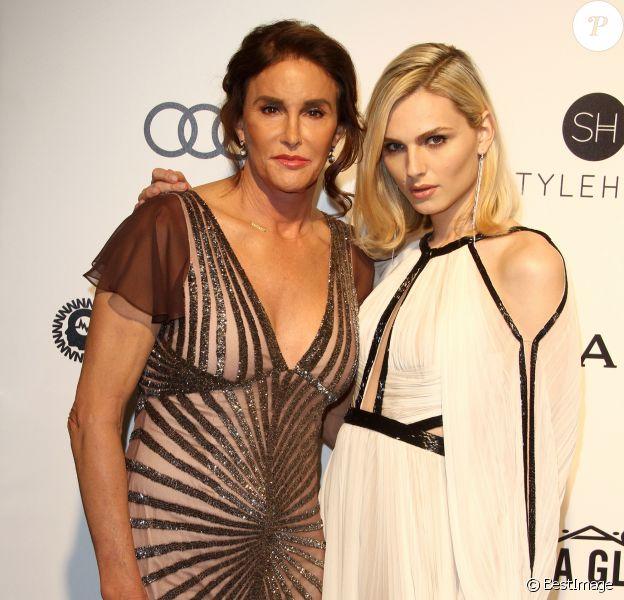 Caitlyn Jenner et Andreja Pejic - Soirée de projection des 89e Oscars de la Elton John AIDS Foundation 2017 à West Hollywood le 26 février 2017.