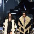 """Adriana Moira et Luka Sabbatau défilé de mode prêt-à-porter automne-hiver 2017/2018 """"Dolce & Gabbana"""" à Milan, le 26 février 2017."""