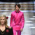 """Dylan Jagger Leeau défilé de mode prêt-à-porter automne-hiver 2017/2018 """"Dolce & Gabbana"""" à Milan, le 26 février 2017."""