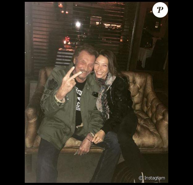 Laura Smet pose avec son papa, Johnny Hallyday, à Los Angeles. Photo postée sur Instagram le 27 février 2017.