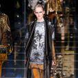 """Défilé de mode prêt-à-porter automne-hiver 2017/2018 """"Balmain"""" à Paris. Le 2 mars 2017."""