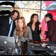"""""""Frédéric Beigbeder, Joséphine de la Baume, Virginie Ledoyen et Nicoas Bedos à Paris lors d'une soirée Lancel le 24 novembre 2011"""""""