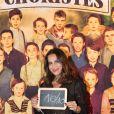 Exclusif - Elisa Tovati à la générale de la comédie musicale Les Choristes au théâtre des Folies Bergère à Paris, France, le 2 mars 2017.