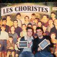 Exclusif - Alex Goude et son mari Romain à la générale de la comédie musicale Les Choristes au théâtre des Folies Bergère à Paris, France, le 2 mars 2017.