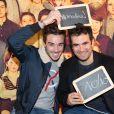 Exclusif - Alex Goude et son mari Romain à la générale de la comédie musicale Les Choristes au théâtre des Folies Bergère à Paris, France, le 2 mars 2017