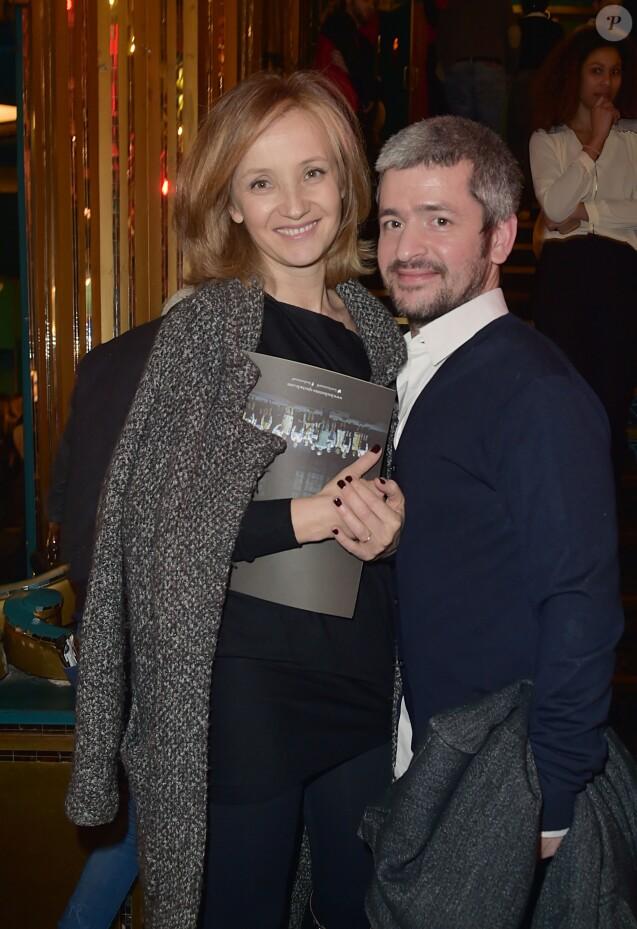 Exclusif - Le chanteur Grégoire et sa femme Eléonore de Galard à la générale de la comédie musicale Les Choristes au théâtre des Folies Bergère à Paris, France, le 2 mars 2017.