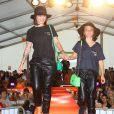 Exclusif - Alizée et sa fille Annily ont participé à la dernière journée de la 9ème édition de l'association 'La Marie Do' à Ajaccio en tant que marraine le 11 octobre 2015.