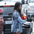 Kourtney, Kim Kardashian, leurs filles Penelope et North, et Khloé Kardashian sont allées à l'atelier d'art pour enfants Color Me Mine, à Los Angeles. Le 10 mars 2017.