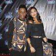 """Black M et sa femme Lia lors de la 18ème cérémonie des """"NRJ Music Awards"""" au Palais des Festivals à Cannes, le 12 novembre 2016. © Christophe Aubert via Bestimage"""