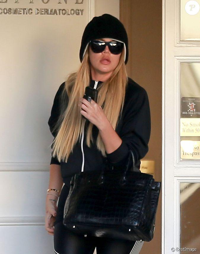 khloe kardashian la sortie du dermatologue epione salon