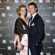 "Eva Herzigova et son mari Gregorio Marsiaj - Vernissage de l'exposition ""Alexander McQueen: Savage Beauty"" au Victoria & Albert Museum à Londres, le 12 mars 2015."