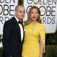 Jennifer Lopez et son compagnon Casper Smart - La 73ème cérémonie annuelle des Golden Globe Awards à Beverly Hills, le 10 janvier 2016. © Olivier Borde/Bestimage