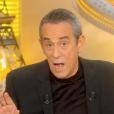 """Thierry Ardisson invite Bruno Masure à s'expliquer avec lui dans son programme """"Salut les Terriens !"""", le 18 mars 2017 sur C8."""