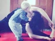 Natasha St-Pier et son fils Bixente : Tendre baiser en pleine séance de yoga