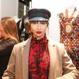 """Exclusif - Jackie Cruz -Lancement de la marque de vêtements de cuir """"Anthony Delon 1985"""" chez Montaigne Market à Paris. Le 7 mars 2017 © Philippe Doignon / Bestimage"""