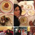 Teri Hatcher et son père Owen ont diné chez Allard, à Paris. Instagram, mars 2017.