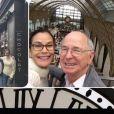 Teri Hatcher et son père ont visité Montmartre, le Sacré coeur, le musée d'Orsay... à Paris. Instagram, mars 2017.