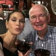 Teri Hatcher et son papa à Paris. Instagram, mars 2017.