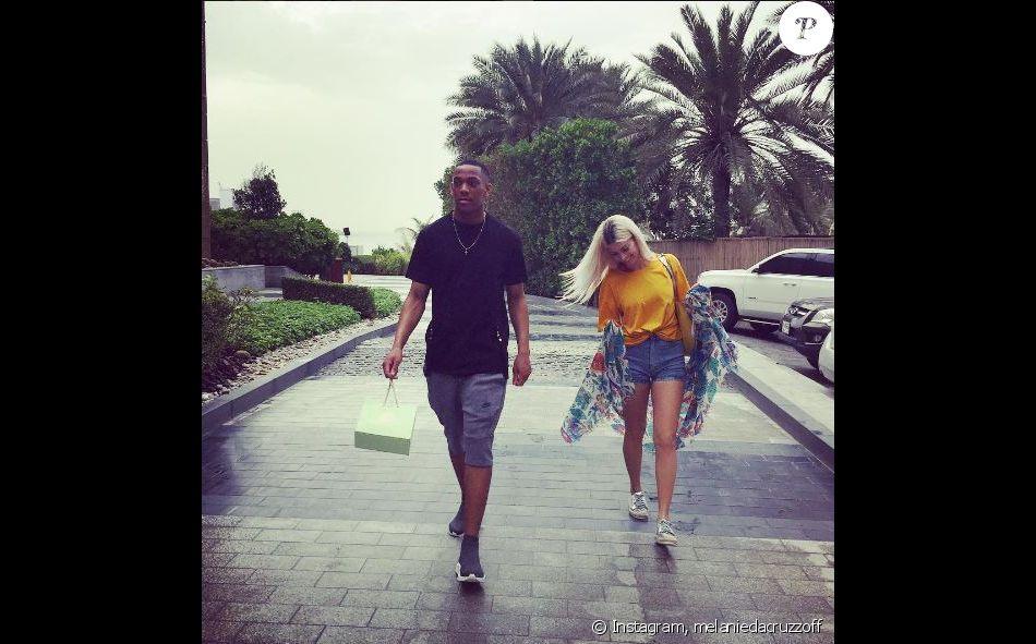 Mélanie Da Cruz à Dubaï avec Anthony Martial, mars 2017