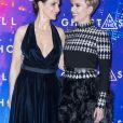 "Juliette Binoche (habillée en Dior) et Scarlett Johansson - Avant-première du film ""Ghost in the Shell"" au Grand Rex à Paris, le 21 mars 2017. © Olivier Borde/Bestimage"