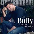 """David Boreanaz réuni avec le casting de """"Buffy contre les vampires"""" pour les 20 ans de de la série (mars 2017)."""