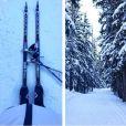 Anouk Faivre-Picon sur les skis, à quelques semaines de son accouchement.