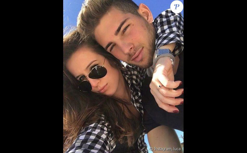Luca Zidane pose avec une charmante jeune femme sur Instagram le 3 avril 2017.
