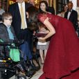 Kate Middleton, duchesse de Cambridge, a assisté à la première de la comédie musicale 42nd Street donnée au Théâtre royal de Drury Lane à Covent Garden au profit des hôpitaux pour enfants East Anglia's Children Hospices (EACH) dont elle est la marraine.