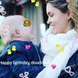 Jeny Priez souhaite un joyeux premier anniversaire à son neveu Alex le 7 avril 2017.