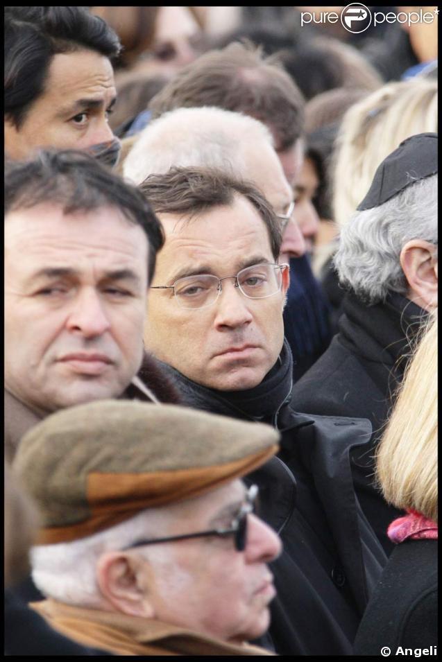 Jean-Luc Delarue aux obsèques de Claure Berri