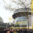 Le bus du Borussia Dortmund a été attaqué après l'explosion de trois charges à Dortmund, le 11 avril 2017.