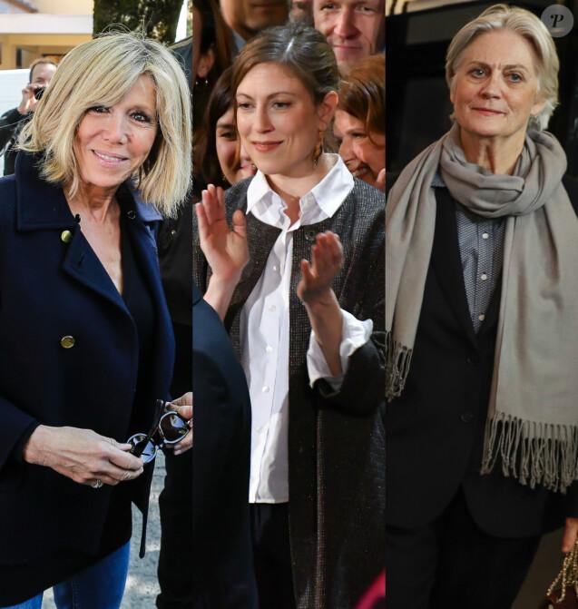 Brigitte Macron, Pénélope Fillon et Gabrielle Guallar. L'une d'elles sera-t-elle la prochaine première dame ? Crédit Best Image, montage Purepeople
